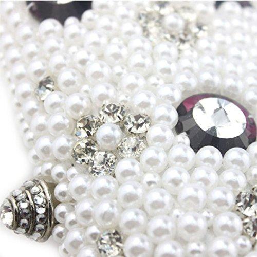 Señora Bolso De La Cena Del Bolso De Hombro Vestido De Señora De La Muchacha A Mano Con Cuentas De Diamantes Black