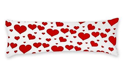 AILOVYO - Funda de cojín con diseño de corazón Rojo Suave ...
