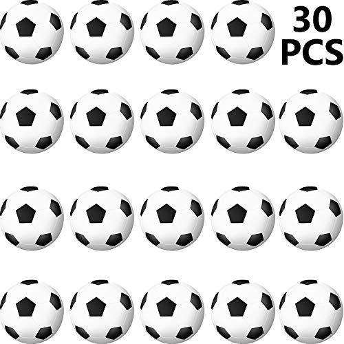 30 Packs Sports Stress Ball, Mini Foam Squeeze Sports Ball, Foam Squeeze Sports Ball for School Carnival Reward, Party Bag Gift Fillers (Soccer Ball)]()