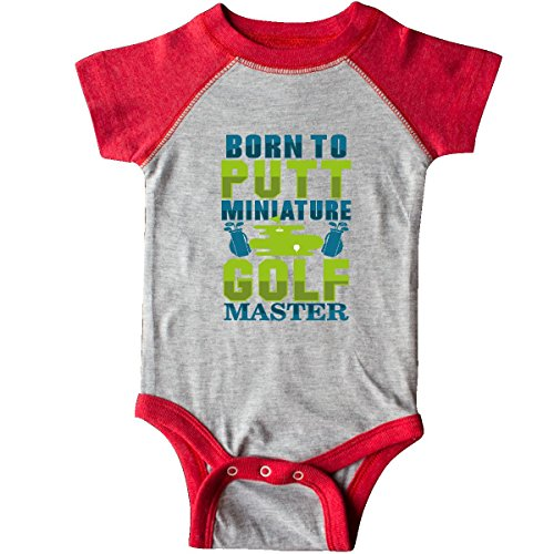 - inktastic - Miniature Golf Master Infant Creeper 12 Months Heather and Red 2f900