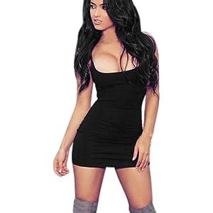 EyeCatch Annalise Womens V Neck Cap Sleeve Bodycon Stretch