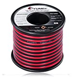 TYUMEN 40 FT 18 Gauge Red Black Cable 2 Conductors Stranded Hookup Wire, 18AWG Electrical Wire - 99.95% Oxygen Free Copper Wires