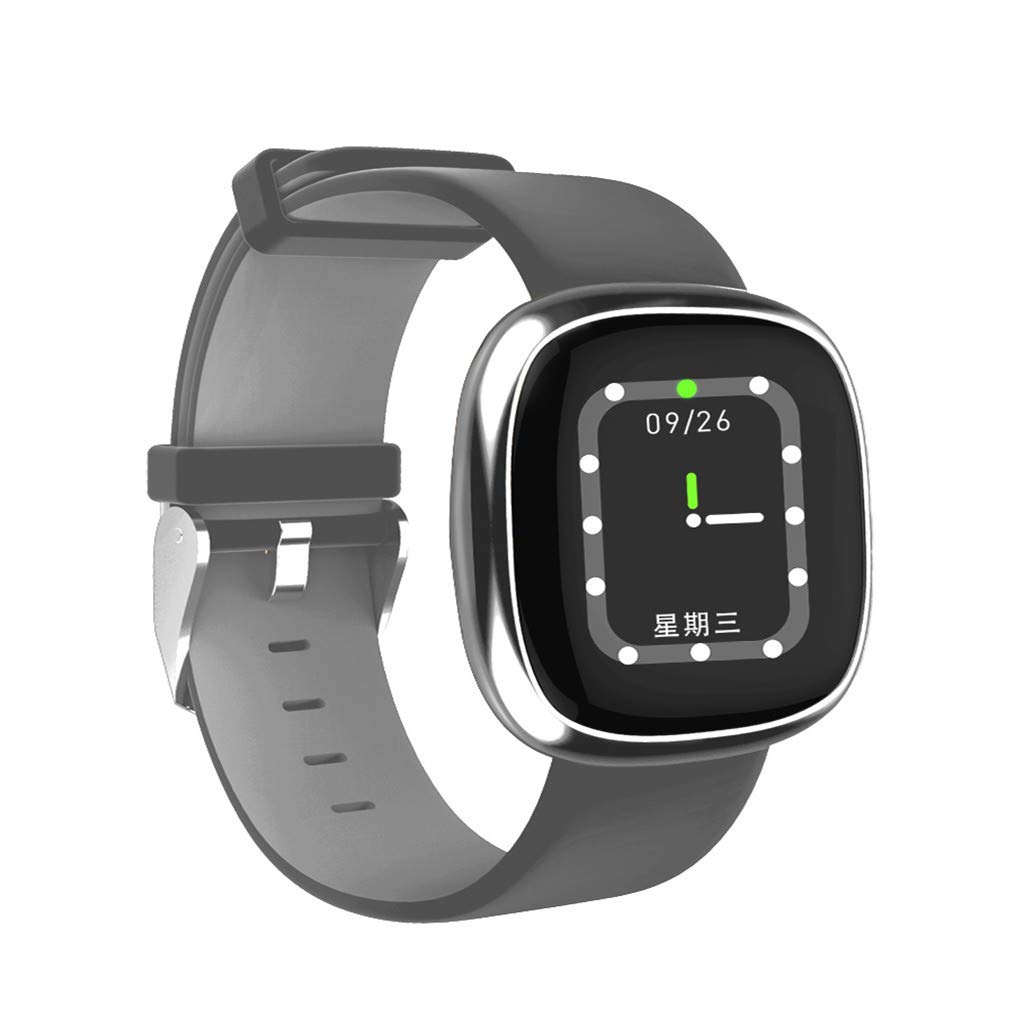 Opef Fitness Tracker, Activity Tracker Watch with Heart Rate Monitor, Water Resistant Smart Bracelet with Calorie Counter Pedometer Watch for Android and iOS (Silver Gray) by Opef