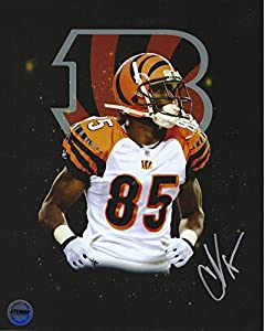 Chad Ochocinco Johnson Cincinnati Bengals Autographed 8x10 Photo FSG Authentic