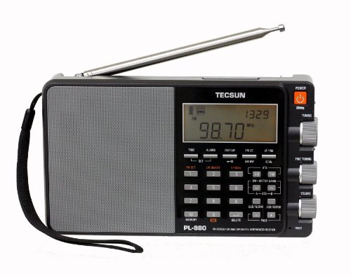 Tecsun PL880 Portable Digital PLL Dual Conversion AM/FM, Longwave & Shortwave Radio with SSB (Single Side Band) Reception (Best Cheap Shortwave Radio)