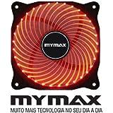 COOLER P/GABINETE 12x12 VERMELHO 33 LEDS- MYMAX