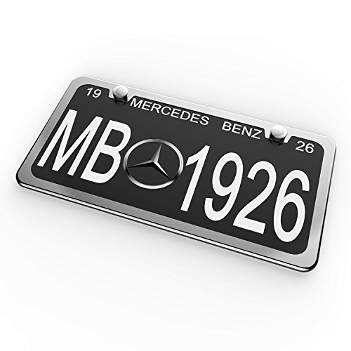 Ohuhu 2 PCS Slim Bottom License Plate Frames Polish Mirror Powder Coated Wont Block Letters//Stickers
