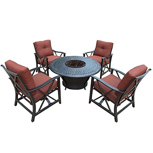 Used, Oakland Living Charleston Gas Firepit Table, Antique for sale  Delivered anywhere in USA