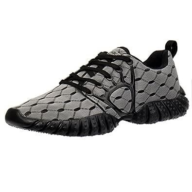 Aleader Men's Mesh Cross-Traning Running Shoes Gray/Black 7 D(M) US