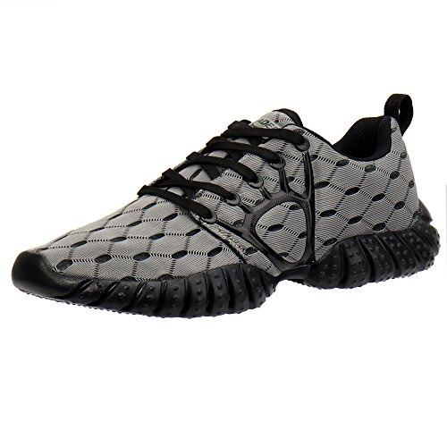 ALEADER Men's Mesh Cross-Traning Running Shoes Gray/Black 11 D(M) US