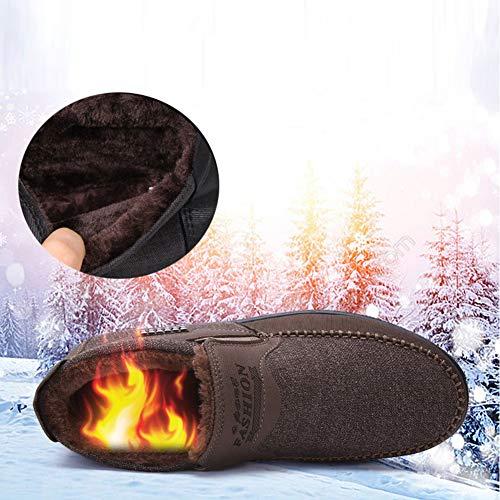 Peluche Caldo Scarpe Inverno Antiscivolo Casa Morbido Nero Uomo Invernali Pantofole Cotone Ciabatte qwtFgY