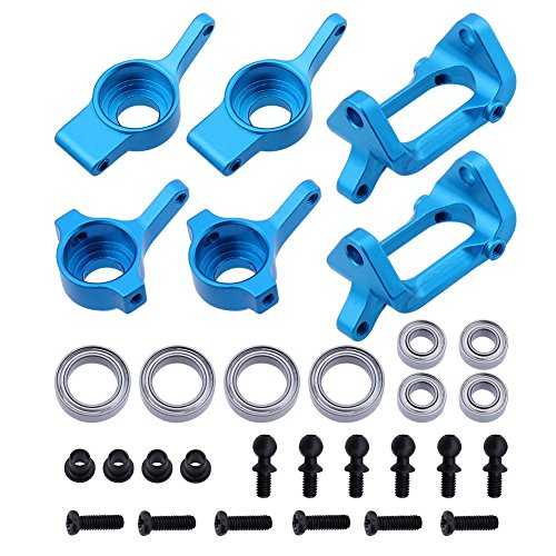Hobbypark Front & Rear Aluminum Steering Hub Base C Carrier Knuckle Upgrade Kit for 1/18 Wltoys A959 A949 A969 A979 K929 A959-B A969-B A979-B RC - Rear Adjustable Hub Aluminum Carrier