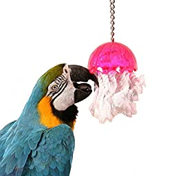 Jellyfish Large Bird Toy cage toys cages bulletproof plastic african grey amazon
