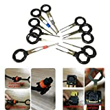 Loveje Car Plug Terminal Removal Tool Electrical Wire Crimp Connector Pin Extractor Car Pin Extractor Kit Supplies Terminals Removal Key Connector Puller Release Pin Tools 11 Pcs/Pack (Black)