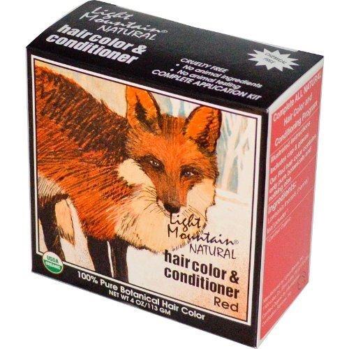 Естественный цвет волос и кондиционер, Красный, 4 унции (113 г), от светло-горы