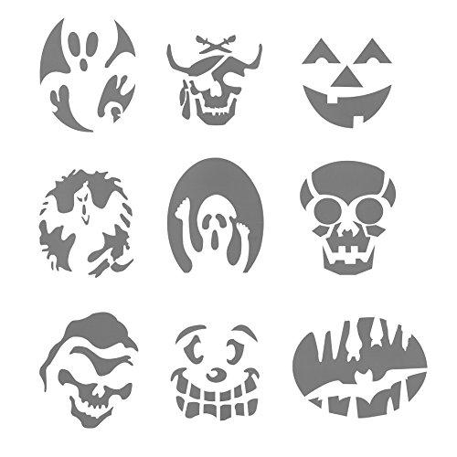 Nett Halloween Kürbis Gesicht Schablonen Fotos - Ideen färben ...