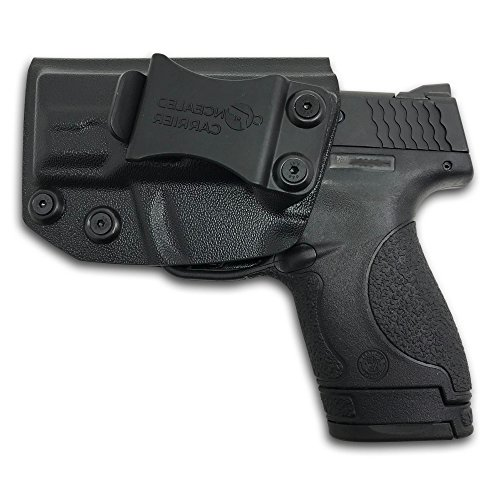 CONCEALED CARRIER (TM) IWB Holster Smith & Wesson M&P Shield 9MM/.40 S&W - VETERAN OWNED COMPANY - Inside Waistband Concealed Carry Holster For Pistol Gun (Left-Handed)