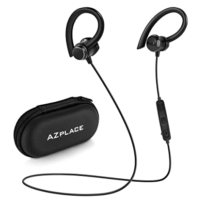 d1a67103e25 Wireless Headphones Bluetooth 4.1 Lightweight Stereo IPX5 Earbuds with  Magnetic Connection Coating Sweatproof Sports Headset with