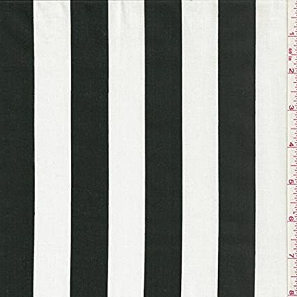 Black and white strip fabric