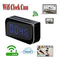 MDTEK@Security & Surveillance P2P Wifi Pinhole Hidden Alarm Clock Camera Mini Clock H.264 Cameras Mini Camcorder Video Recorder