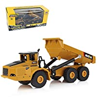 Geminismart Famous in-Home Learning Brand 1/50 Scale Diecast Articulated Dump Truck Engineering Vehicle Construction Alloy Models Toys for Kids