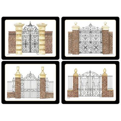 Pimpernel Historic Charleston Gates Placemats - Set of 4 (Large)