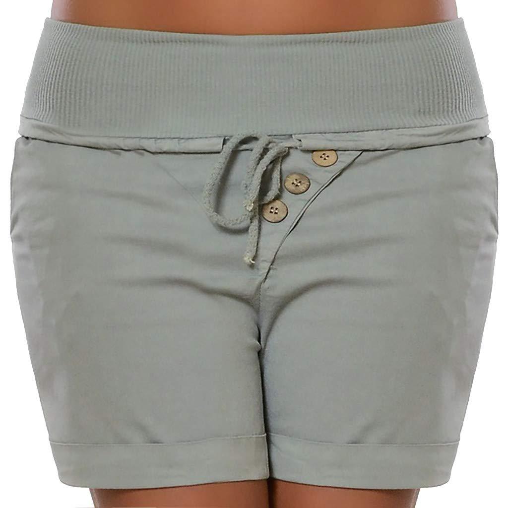 Damen Verband-Shorts, LeeMon Frau Mode Sommer Hot Pants Capri Shorts Hohe Taille Verband Hosen Hosen