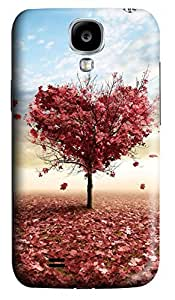 S4 Case, Samsung S4 Case, Customized Protective Samsung Galaxy S4 Hard 3D Cases - Personalized Red Leaves Cover