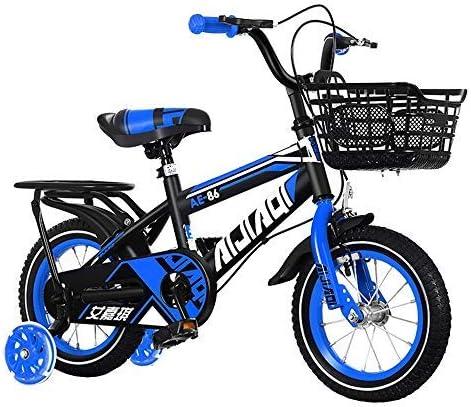 YSA キッズバイクキッズバイク、バスケット、トレーニングホイール12/14/16/18インチ自転車、アウトドア自転車、2-13歳の自転車