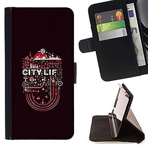 Momo Phone Case / Flip Funda de Cuero Case Cover - Vida en la ciudad;;;;;;;; - HTC DESIRE 816
