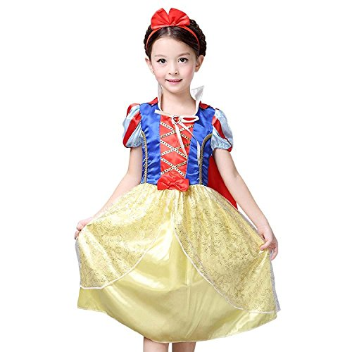 Snow White Costume Disney Princess Snow White Inspired Dress for Girls 4-10 (8/10-XXL) (7 Dwarfs Costume)
