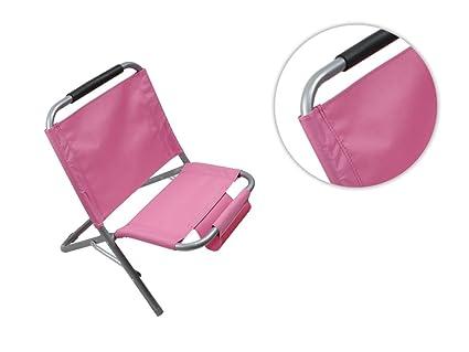Sedia A Sdraio Tessuto : Vetrineinrete spiaggina con portaoggetti riviste in metallo e