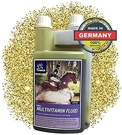 ⭐ EMMA Vitaminas para caballo - Multi líquido I alimentos suplementarios con multivitaminas y zinc, cambio de pelaje y convalecencia 1 Ltr.