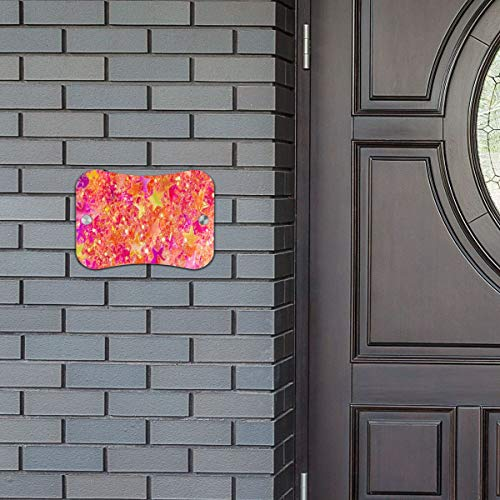- Door Sign Pink Star Neon Light Fantastic Hanging Wall Art Primitive for Business