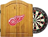 Imperial Officially Licensed NHL Merchandise: Dart Cabinet Set with Steel Tip Bristle Dartboard and Darts, Detroit Red Wings