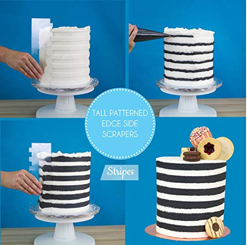 Amazon.com: PME PS61 Tall Patterned Edge Side Scraper for Cake Decorating-Stripes, 10 in Transparent: Kitchen & Dining