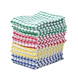 Kitchen Towels Bulk 100 Cotton Kitchen Dish-Cloths Scrubbing Dishcloths Sets 11x17 Inch 12pcs (Mix color): more info