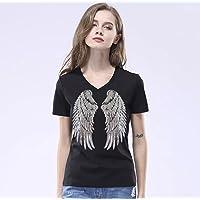 Camiseta mujer con alas lentejuelas (L)