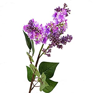 Powerfulline 1Pc Artificial Lilac Fake Flower Garden Wedding Bouquet Party Home Cafe Decor 4 Color Purple 104