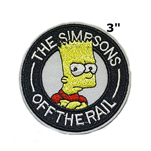 The Simpsons Bart Cartoon Embroidered Sew or Iron-on Patch Badge DIY Application (Les Simpson Halloween Le Film)