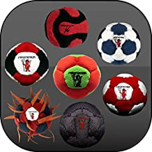 Collection of 7 Pro Footbags Hacky Sack Sand & Iron, Pellets & Iron All footbags Weighted At 60 grams