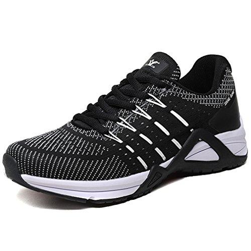 Hommes Lace Outdoor Casual XIANG Chaussures Randonnée Sneakers Imperméable Course up Noir Low GUAN Respirant Antidérapant Top vwEq5C