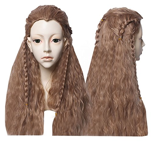 Xcoser Famous Film TH Fili Cosplay Long Curly Wig With Braid
