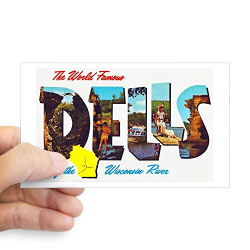 CafePress Dells Wisconsin Greetings Rectangle Bumper Sticker Car ()