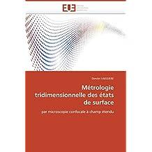 METROLOGIE TRIDIMENSIONNELLE DES ETATS DE SUR