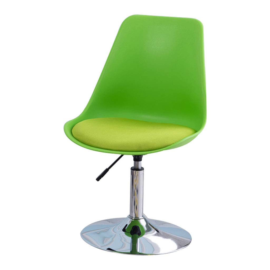 Green Chair Lift Simple Chair, Non-Toxic and Tasteless PP Resin Material, Height Adjustable Ergonomic Backrest, Suitable for Bedroom Study, Yellow, Green (82  41  49cm)