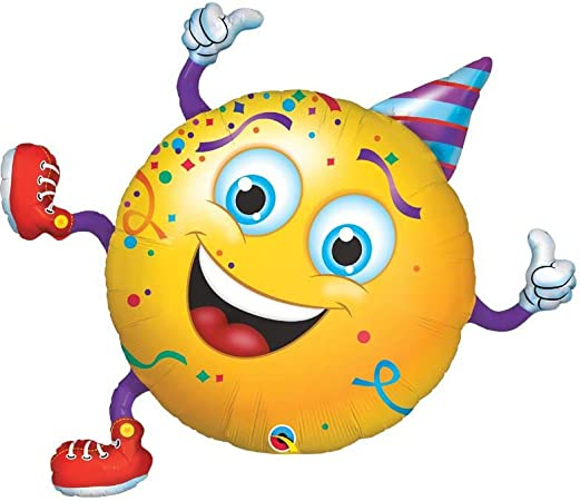 Qualatex 49360 Forme Smiley fête Guy Ballon en Aluminium, 96,5 cm ...