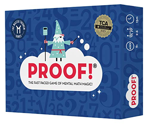 Proof! Math Game – The Fast Paced Game of Mental Math Magic – Teachers' Choice Award Winning Educational Game, Ages 9+