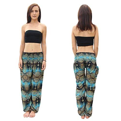 Price comparison product image Clearance ! Litetao - Thai Harem Trousers ! Hot Sale ! New ! Men Women Thai Harem Trousers Festival Hippy Smock Yoga Pants Fisherman Pants (Free Size,  Sky Blue C)