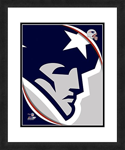 "NFL New England Patriots Logo, Beautifully Framed and Double Matted, 18"" x 22"" Sports Photograph (Photographs Sports)"
